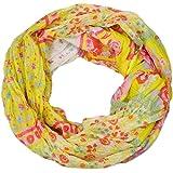 styleBREAKER fular de tubo con motivo mixto de flores, tela crash y arrugada, cachemira, puntos, flores, rosas 01014008