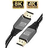 IBRA 2.1 kabel HDMI 8K ultra szybki kabel 48 Gbps   obsługuje 8K@60HZ, 4K@120HZ, 4320p, kompatybilny z Fire TV, wsparcie 3D,