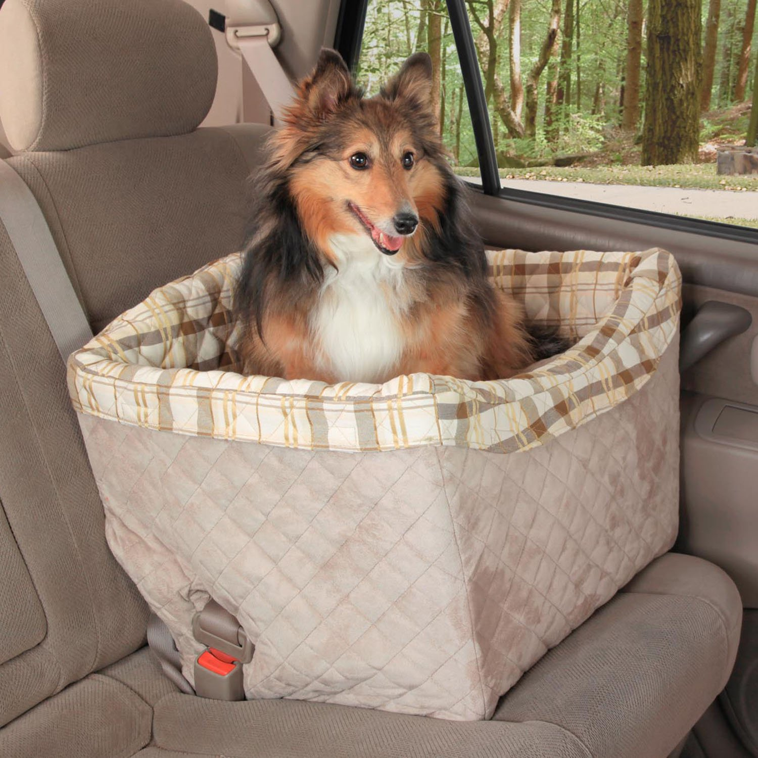 Solvit Tagalong Pet Booster Seat, Deluxe, Jumbo Washable Liner For Pets upto 30 lbs