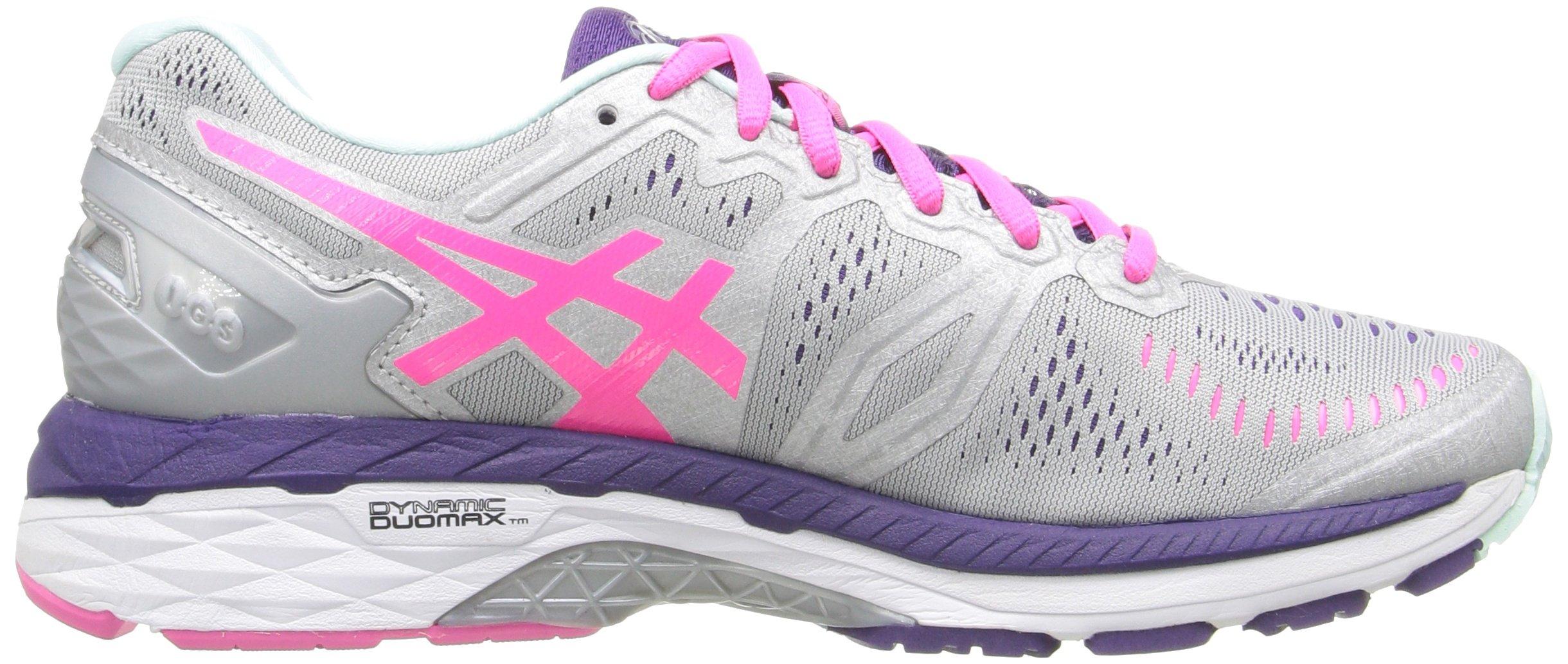 81wtjNGajCL - ASICS Women's Gel-Kayano 23 Running Shoe, Silver/Pink Glow/Parachute Purple, 5.5 UK