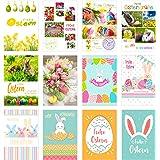 Set 12 Premium Osterkarten mit Umschlag (Doppelkarten/Klappkarten mit Briefumschlag) Karte Postkarte Ostern