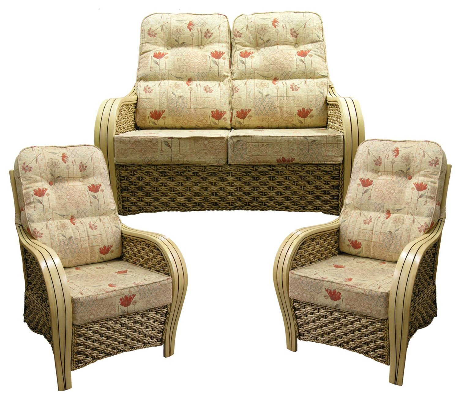 Cane chairs with cushions - Cane Furniture Replacement Cushions Only Deluxe Lumbar Support Suite Cane Wicker Rattan Furniture Gilda Dean Gold With Self Piping