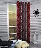 Fashion String 1 Piece Window Curtain Set, 5 feet Long,Maroon