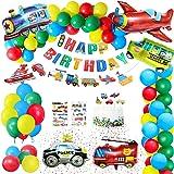 Gafild Decorazioni di Compleanno partyPalloncini Sets,Palloncini Compleanno Car Forma Palloncini di stagnola Trasporto Tema P