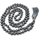 Givereldi Pietra Preziosa mala perline collana bracciale 108 perline 8 mm di larghezza - con nodi in mezzo più 1 grande…