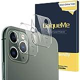 [2-pack] UniqueMe kameralinsskydd kompatibel med iPhone 11 Pro/iPhone 11 Pro Max härdat glas, 9H hårdhet, HD klarhet [anti-fi