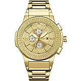 JBW Luxury Men's Saxon 16 Diamonds Multi-Function Swiss Movement Watch - JB-6101-D