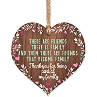 Friends plaque | Friends that are family wooden heart | gifts for friends women | best friend plaque | hug gifts…