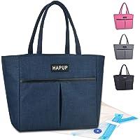 HAPUP Sac Isotherme Repas Lunch Bag Sac Cours Lycee 10L Portable Imperméable Givré avec 2 Sac Reutilisable Fruit Legume…
