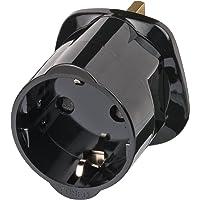 Brennenstuhl travel adapter / travel plug (eu to uk plug adapter) black