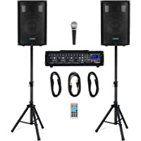 McGrey BP-210 Bandpack PA-Anlage - 4-Kanal Powermixer - digitaler Hall - Bluetooth - USB/SD-Slot - 2-Wege-Lautsprecher…