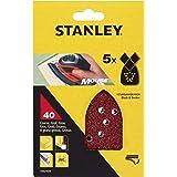 Stanley STA31034-XJ schuurpapier (korrel K40, extra grof gekorrel, met klittenband-Fix, geschikt voor Black+Decker compacte m