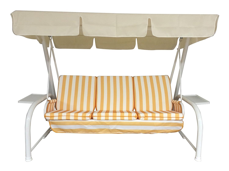 Neffy Shop Set Kissen Und Dach Ersatz Für Hollywoodschaukel 3 Sitzer, Grün,  150 X 55 X 6 Cm, 19599: Amazon.de: Garten