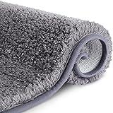 RenFox Alfombra de Baño de Microfibra Esponjosa Alfombra Baño Absorbente y Antideslizante Suave Alfombra de Ducha Lavable a M