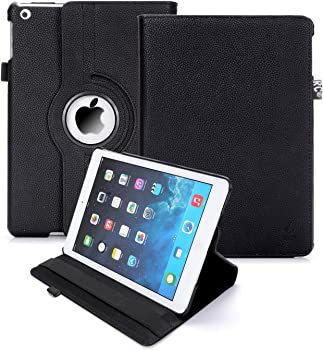RC 360 Rotating Smart Case PU Leather Cover Stand