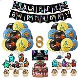 Yisscen DecoracióN De Fiestas TemáTicas Globo Feliz Cumpleaños Pancarta Cumpleaños Supplies Set Usado para Niños Niñas Decora