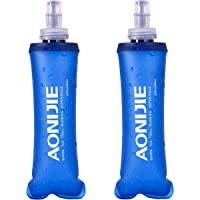 TRIWONDER TPU Faltbarer Trinkflaschen, Soft Flask, Wasserflasche BPA-Frei Sportflasche für Trinkrucksack Fahrrad Sport