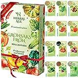 Odla Din Egen Grönsaksträdgård - 12 Blandade Grönsaksfröer - 5100 Frön - Tomat, Paprika, Lök, Sallad, Squash, Gurka, Körsbärs