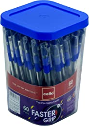 Cello Faster Grip Ball Pen Set - Pack of 60 (Assorted)