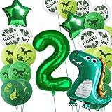 Dino palloncini compleanno 2 anni, decorazione compleanno bambini 2 ° compleanno decorazione festa compleanno dinosauro decor