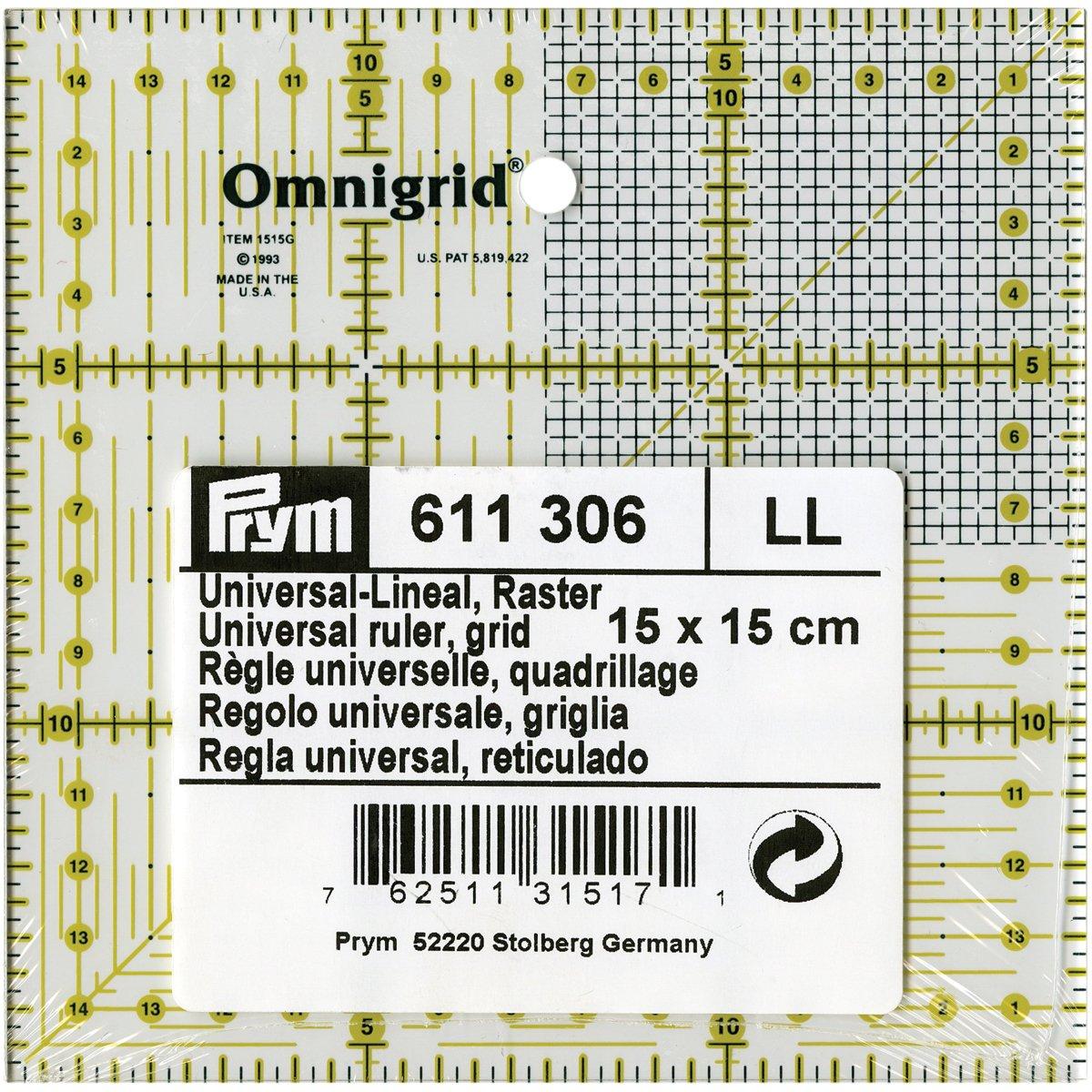 Prym universal-regla con Inch escala marca de 30 ° 45 ° 60 ° 611643 ángulos