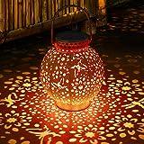 Lanterne solaire pour ornements de jardin Lanterne solaire LED étanche et antirouille Lampes solaires suspendues Lanterne ext