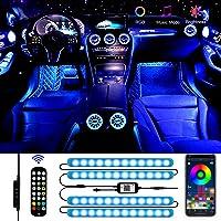48 LED Striscia LED Auto, Aimocar striscia lampadine Led Auto Interni RGB Multicolore Impermeabile Auto Luci Interne Kit…