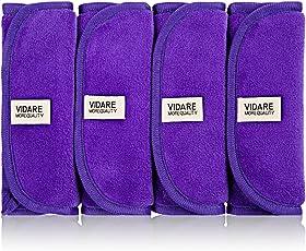 (4-Pack) Premium Abschminktücher inkl. Abschminkanleitung [40x18cm] mit 24 Monate Garantie von VIDARE - Hypoallergene Gesichtsreinigungstücher oder Make-Up-Entferner Tücher für optimale Gesichtspflege › waschbar & wiederverwendbar