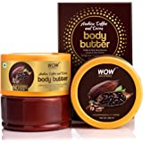 WOW Skin Science Arabica Coffee and Cocoa Body Butter for Toning, Brightening & Softening Dry & Sensitive Skin - No Parabens,