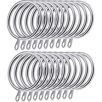 LARGE METAL CURTAIN RINGS Fits 14-22mm Rail Net Loop Pole Rod Hanging SMALL