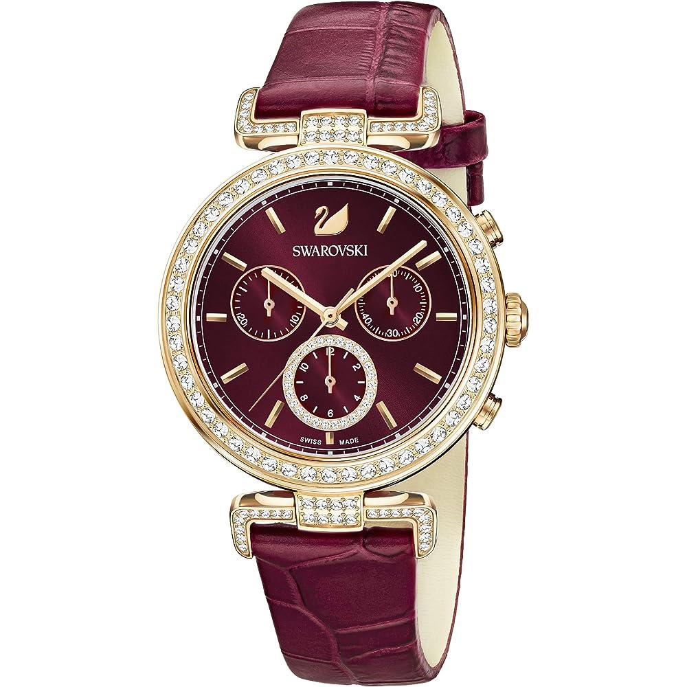 Swarovski orologio cronografo collezione era journey da donna in acciaio e pelle 5416701