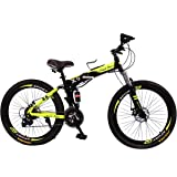 vlra X7 Land Rover Folding bike 26 inch 24speed mountain bike Suspended disc brake bicycle (black green)