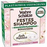 Garnier Festes Shampoo, Sanfte Hafermilch, mit beruhigender Hafermilch, für empfindliches Haar, biologische abbaubare Formel,