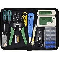 Chairlin 13tlg Professionell Netzwerk Werkzeug Set, Netzwerk Kabeltester Kit, Computer Wartung LAN Kabel Tester…