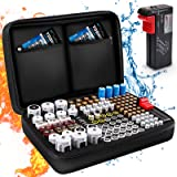 Battery Organiser Storage Case, Keenstone Battery Storage Box Hard Case Holds 139 Batteries Various Sizes (AA AAA C D 9V…