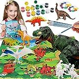 Bdwing Dinosaurier Malset für Kinder, Figuren Bemalen und Basteln Sie Ihre eigenen Dinosaurier, DIY 3D Malspielzeug für Junge
