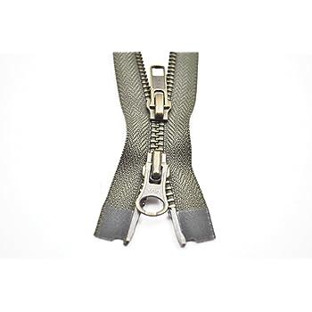 YKK Reißverschluss 2 Wege teilbar 5mm olivgrün 70 cm Metall Metallzähne