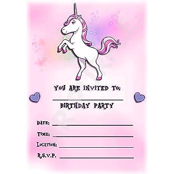 Unicorno Inviti Per Festa Di Compleanno A Tema Beautiful Pastel