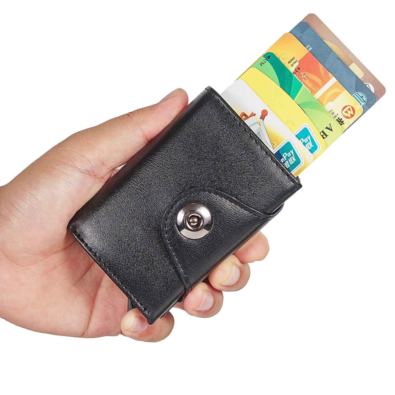 4f34302c4c Porta Carte di Credito da Uomo, MOCOCITO Portafoglio per Carte di ...