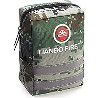 TIANBO FIRST 120-teiliges Erste-Hilfe-Set, taktischer Molle Tasche, EMT Erste Hilfe Tasche, Reflexstreifen, ideal für…