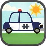Autospiele für Kinder: Witzige Cartoon-Flugzeug, Polizeiauto, Feuerwehrauto und Fahrzeugpuzzles HD - Kostenlos