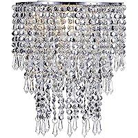 Waneway Pendentif 3 niveaux, abat-jour chandelier de plafond avec gouttelettes bijoux en acrylique, abat-jour en billes…