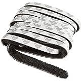Windhager 03787 Afdichtingsborstel, afdichtband, kleefborstel, voor rolgordijnramen en rolgordijndeuren, zelfklevend, zwart,