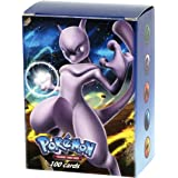 Mega Ex Cards, 100 Carte dei Pokemon, Ultra Brillante ,composte da 80 Ex Card e 20 Mega Ex Card [ Lingua Inglese ]