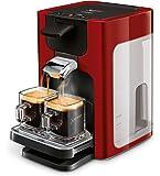 Senseo Quadrante HD7865/80Machine à café autonome en capsules 1,2 l 8 tasses RougeCafetière autonome Tasse Boutons