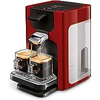 Senseo Quadrante HD7865/80 Machine à café autonome en capsules 1,2 l 8 tasses Rouge Cafetière autonome Tasse Boutons
