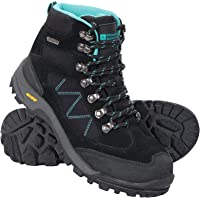 Mountain Warehouse Gale Womens Waterproof IsoGrip Boots - Suede Mesh Upper Hiking Shoes, EVA Footbed, High Traction…