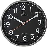 Dojana Plastic Wall Clock, DWG337L-GRAY-BLACK