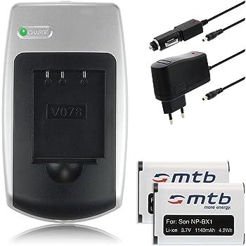 2x Batteries + Chargeur pour Sony HDR-AS30, AS200V / DSC-HX400(V), RX100 III / PJ240 / X1000V... - Voir liste