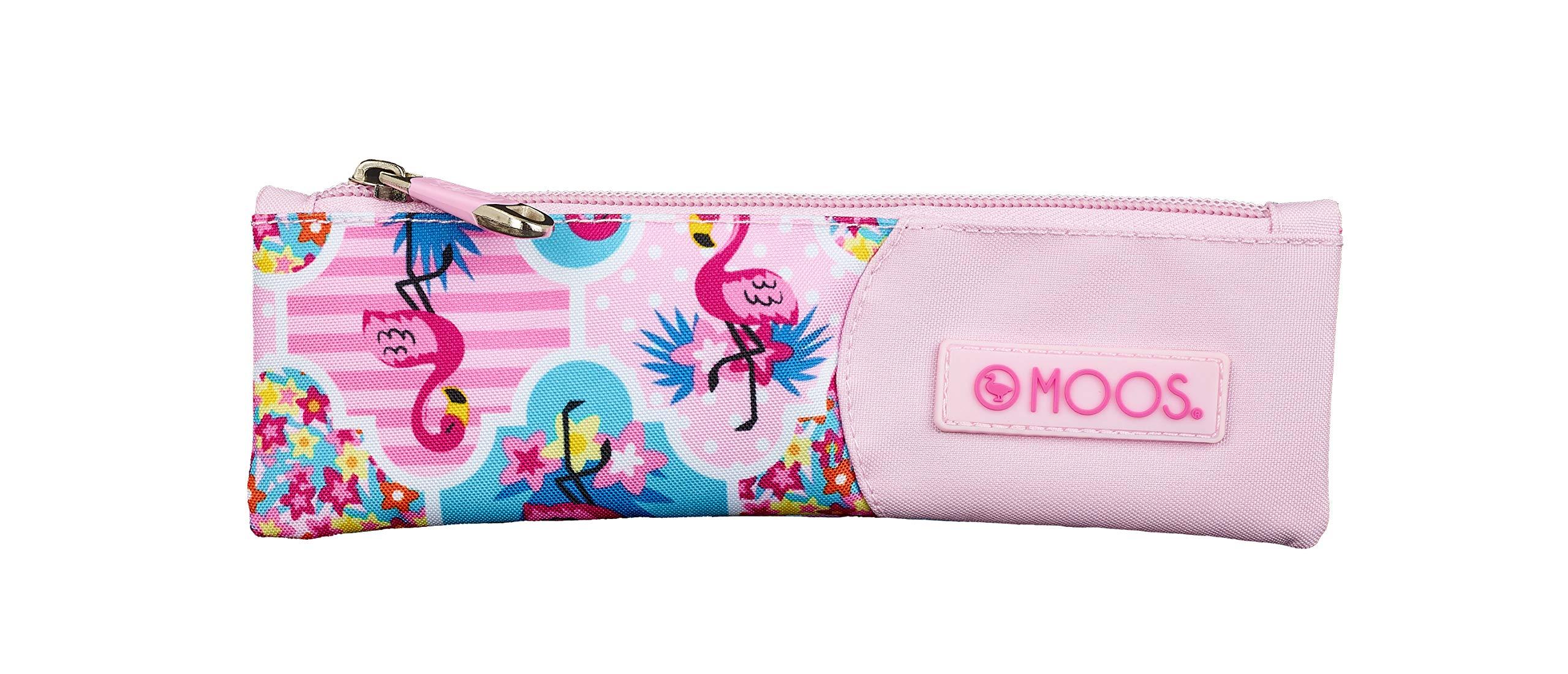 Moos  Flamingo Pink Oficial Estuche Escolar 200x60mm